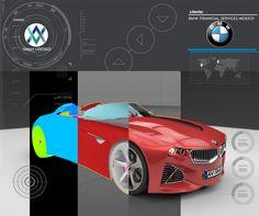 #3D #Render #Animavertigo BMW Concept, gráfico  http://www.bmwfs.com.mx/