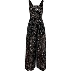 Diane von Furstenberg Printed cotton and silk-blend jumpsuit (€245) ❤ liked on Polyvore featuring jumpsuits, jumpsuit, diane von furstenberg, special occasion jumpsuits, cocktail jumpsuit, wide leg jumpsuit and beach jumpsuit