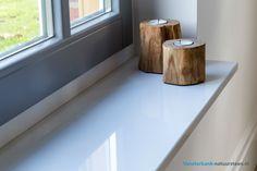 Een mooi composiet witte vensterbank die op maat gemaakt kan worden!