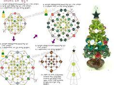 DIY - Another Teeny Tree Christmas Tree Earrings, Beaded Christmas Ornaments, Christmas Jewelry, Handmade Christmas, Christmas Crafts, Beading Tutorials, Beading Patterns, Diy Jewelry Projects, Beaded Crafts