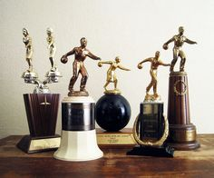Vintage 1950s Bowling Trophy  Your Choice by twentytimesi on Etsy