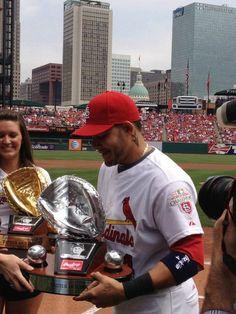 Yadi u deserve them all! St Louis Baseball, St Louis Cardinals Baseball, Stl Cardinals, Baseball Teams, Baseball Stuff, Baseball Players, Better Baseball, Yadier Molina, Home Team