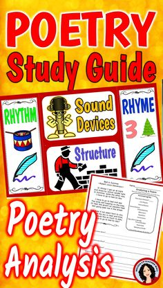 Poetry Study Guide with 2 options, as a Lapbook or as a Booklet. This packet has everything you need to teach and review poetry terms and provides easy step by step poetry analysis. Teach the students what to look for in a poem and how to determine how the stanzas fit together.
