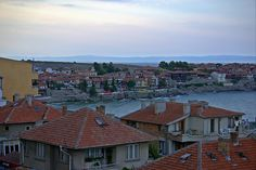 Sozopol Old City View in the Evening (At the Seaside Resort in Bulgaria, Europe)