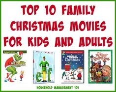My list of the top 10 family Christmas movies for kids and adults, listed by how young (or old) you should be to watch them {on Household Management 101}