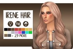 "wild-pixel: "" Irene Hair named after Irene from Red Velvet, check out their latest song ""Bad Boy"" here • Female Teen to elder • 18 EA colours • Also recoloured in @pastry-box's saccharine palette + 12 swatches of @rusty-sims ombres! • BASE GAME..."