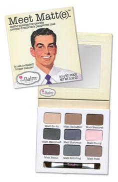 Free shipping and returns on theBalm® theBalm 'Meet Matt(e)®' Eyeshadow Palette at Nordstrom.com. theBalm proudly introduces Meet Matt(e)™, an eyeshadow palette that will meet all of your matte needs. The nine shadows found in the compact palette (named after our favorite Matthews next door) can be combined to create a multitude of soft and wearable looks.<br><br>In the daytime, choose more neutral shades to seamlessly blend, enhance your eyes and complement your complexion. In the evening…