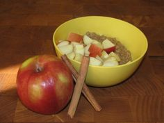 Apple Cinnamon Oatmeal- 129 calories - Lose Weight By Eating