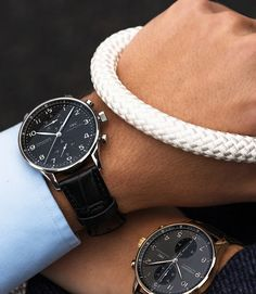 Set the course with the IWC Portugieser Chronograph. Stylish and sophisticated, this timepiece has been the most sought-after model in the Portugieser family since 1998.