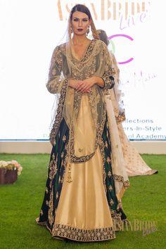 Emerald Green & Cream silk bridal lengha RDC-INDIAN-PAKISTANI-WEDDING-FASHION
