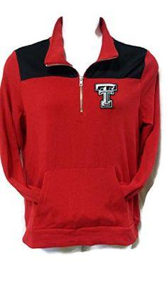 Victorias Secret PINK Collegiate Collection Quarter Zip Sweatshirt Texas Tech