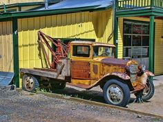 / Ford Model A / Model T Tow Truck Photograph Art Picture print Old Ford Trucks, Dump Trucks, Tow Truck, Cool Trucks, Big Trucks, Antique Trucks, Vintage Trucks, Vehicle Signage, Merc Benz