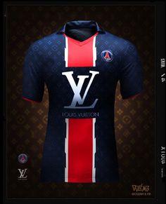 Maillot PSG Louis Vuitton - Golem13 Football Outfits, Sport Outfits, Psg, Shark Logo, Sports Uniforms, Football Kits, Soccer Shirts, Mode Masculine, Neymar