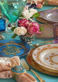 Moroccan inspired tablescape, as seen in Palm Beach Entertaining: Creating Occasions to Remember