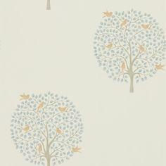 Bay Tree Copper / Denim wallpaper by Sanderson