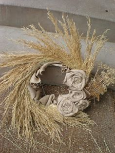 Wheat Wreath Tutorial,-DIY Craft Autumn Wreaths, Fall Wreath. Thanksgiving Wreath