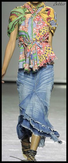 Textile fantasy and not only: Denim skirts. hmmmm....top and skirt pretty interesting