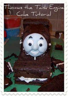 Thomas the Tank Engine Cake Tutorial