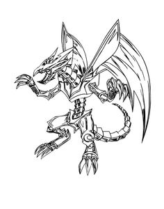Red Eyes Black Metal Dragon Coloring Pages