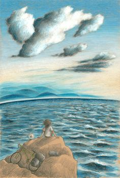"""""""The journey"""", illustration by Sarah Khoury. Pencils on paper"""