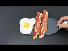BACON and EGG PANCAKES : How to Make Perfect Bacon and Eggs Using Just Pancake Mix! by Tiger Tomato - YouTube