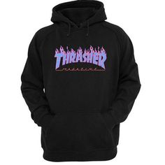 Thrasher purple flame Hoodie