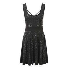 Killstar Vicky Veil korte skater jurk zwart - Rock Metal Gothic Pentag