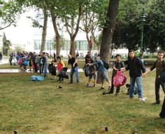 Ordinary citizens cleaning up Gezi Park