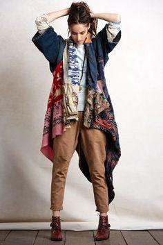 love long tail kimono