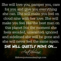 She will quietly move on...