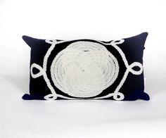 Trans-Ocean Imports 7SB1S414333 Visions Ii Collection Navy Finish Pillow