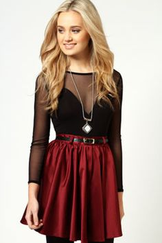 Millie Sateen Skater Skirt