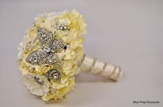 Crystal Butterfly:) #wedding #bouquet