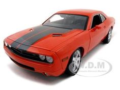 2006 Dodge Challenger Concept Diecast Car Model 1/18 Orange Die Cast Car By Highway 61