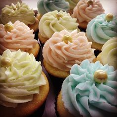 Easter Colors . . . So delicate and beautiful! #ohmycupcakes