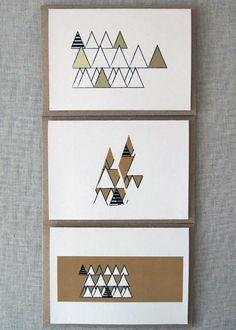 Geometric Xmas cards