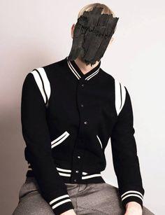 saint laurent varsity jacket basebaal mens