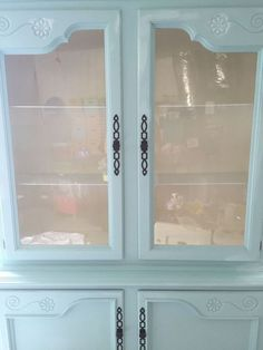 dining room china cabinet makeover, chalk paint, painted furniture
