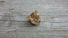 Gold geometric statement ring S/M   boho bohemian by CityZenCharms