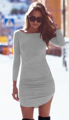 Chic dress in grey