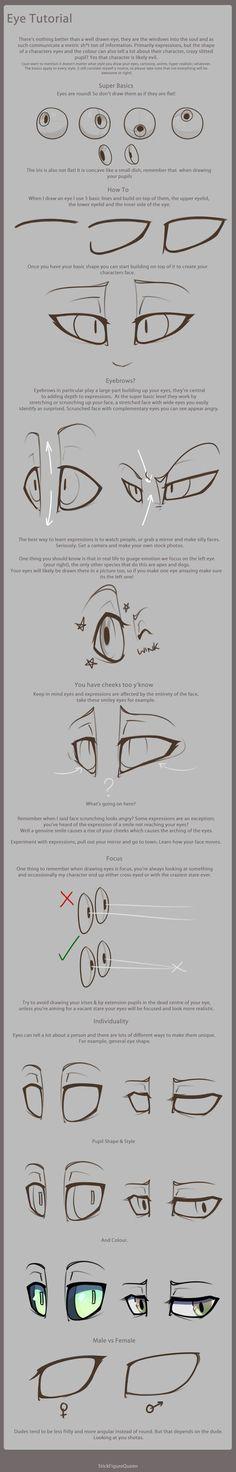 Eye Tutorial by StickFigureQueen.deviantart.com on @deviantART: