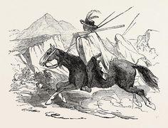 Kaffir Drawing - The Kaffir War Fingoe Cavalry by English School British Colonial, South Africa, Cape, Heaven, English, Wall Art, School, Drawings, Illustration
