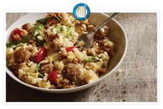 Sausage Risotto with Spinach and Tomatoes Classic risotto gets a delicious, meaty twist, with Jimmy Dean® Pork Sausage, spinach, tomato and grated Parmesan cheese. Easy Egg Casserole, Breakfast Casserole Sausage, Casserole Recipes, Breakfast Cassarole, Slow Cooker Recipes, Cooking Recipes, Pork Recipes, Sausage Bread, Turkey Sausage