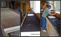 2nd Most Visited Post of 2012 - Concrete Countertops on a Budget - Creative Cain Cabin