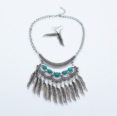 Boho Silver Antique Necklace Gypsy Antique by LouluJewels on Etsy