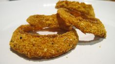 baked onion rings...crispy, tasty, and super low carb!