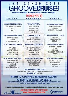 Official Groove Cruise Class of 2013! Let the insanity at sea begin..