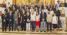 MOTRIL.Agentes y mandos de la Policía Nacional han celebrado el día de sus Patronos, los Santos Ángeles Custodios, una jornada festiva en la que se ha reconocido la