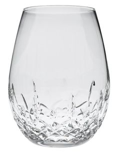 $110.00-$110.00 Waterford Lismore Nouveau Stemless Deep Red Wine Pair - The Lismore Nouveau Stemless Deep Red Wine 16 oz, Pr, is a variation of the new Lismore Nouveau pattern. The cuts in the new stemless glass are designed to appeal to a casual market. These glasses are a fun and functional stemless design that incorporates the classic Lismore cuts with a unique twist.Lismore is the definitive ...