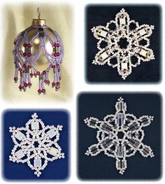Tila Bead Ornament Collection by Sandra D. Halpenny at Bead-Patterns.com
